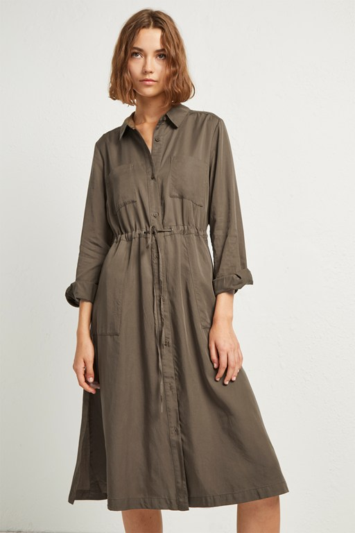 aventine plains midi shirt dress