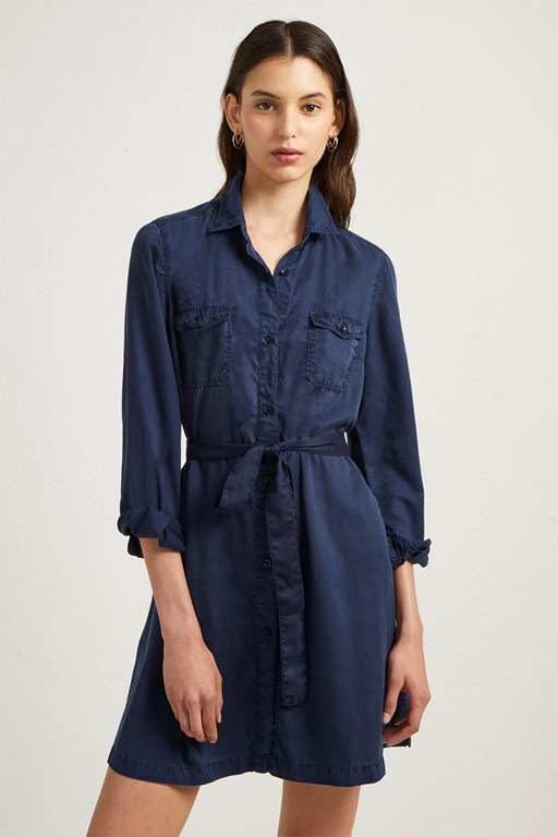 tandy lyocell short shirt dress