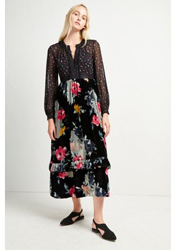 Edith Velvet Devore Midi Dress