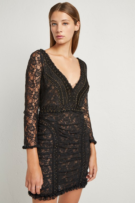 muriel lace bodycon dress