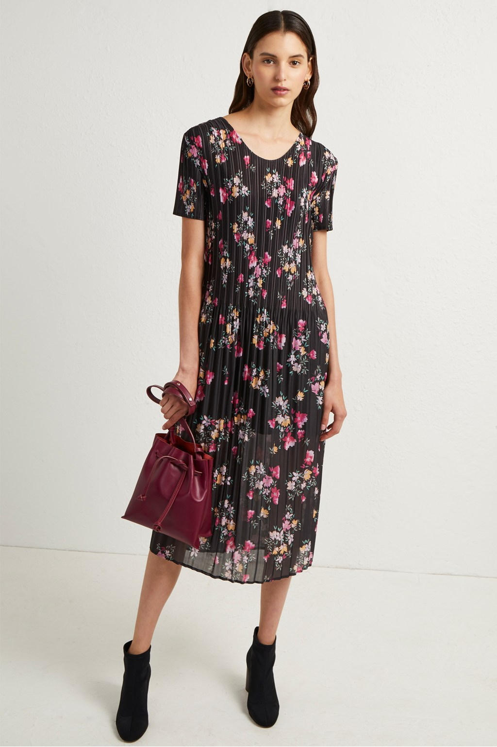 1a4b944c Florence Printed Plisse Jersey Midi Dress French Connection Usa