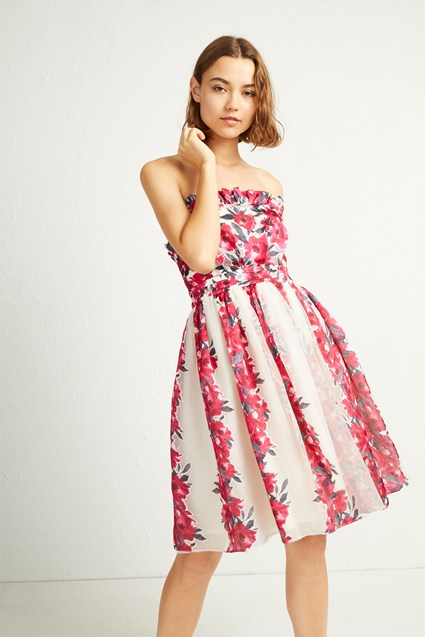 Edith Vintage Strapless Dress