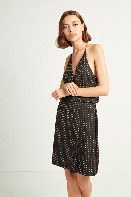 Enid Jersey Strappy Studded Dress