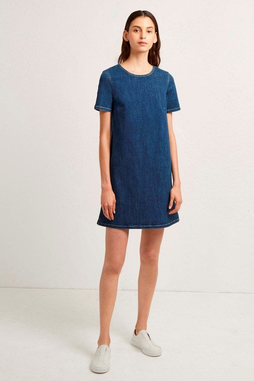eve denim t-shirt dress