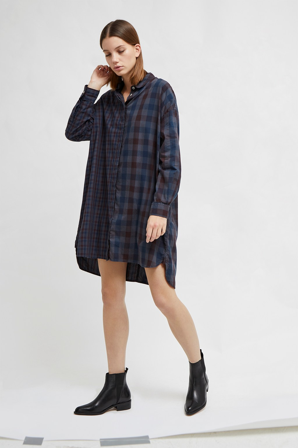 Onille Oxford Check Shirt Dress Collections French Connection Usa