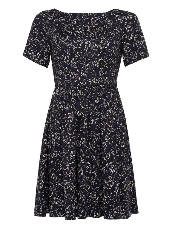 alletea cotton fit & flare dress
