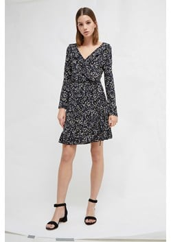 Aubi Meadow Jersey Floral Wrap Dress
