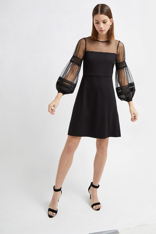 paulette jersey puff sleeve dress