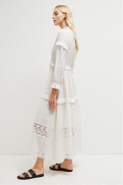 Coletta Cotton Broidery Dress