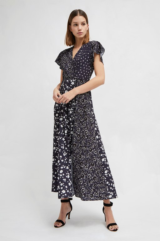 aliyah crepe floral maxi dress