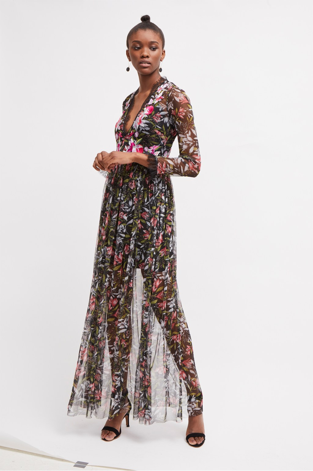 flori embroidered floral maxi dress  wedding guest