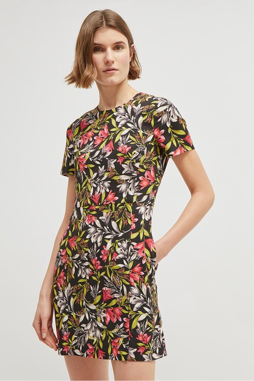 cadencia stretch floral dress