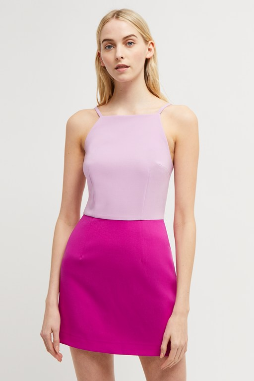 whisper color block dress