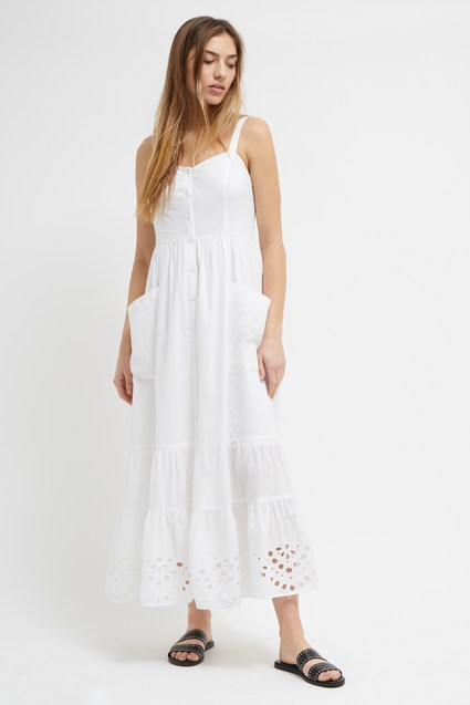 Ancole Broderie Midi Dress