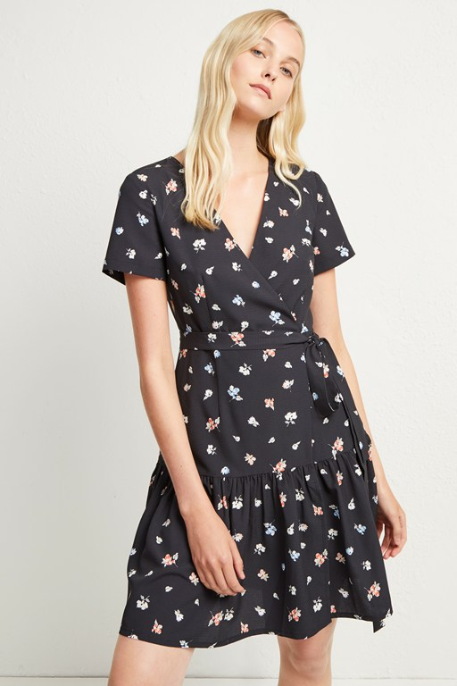 frida armoise crepe wrap dress