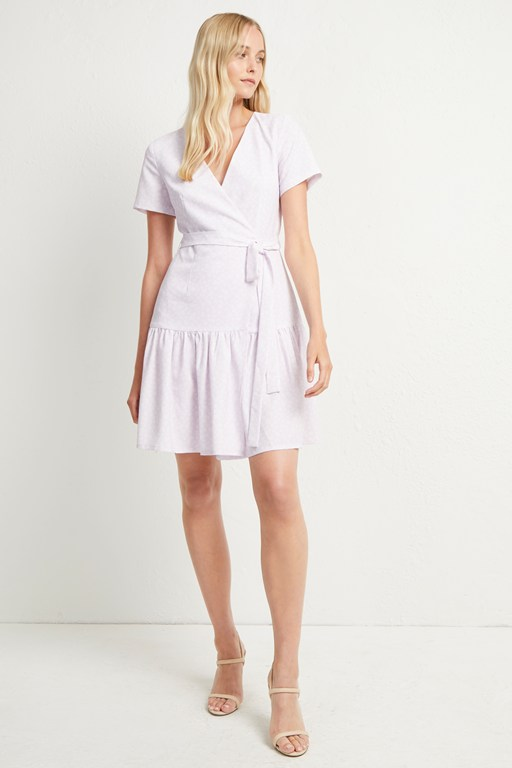 mono armoise crepe wrap dress
