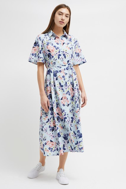 Cerisier Crepe Midi Shirt Dress