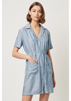 Laiche Stripe Shirt Dress