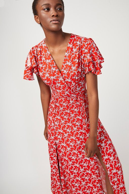 cerisier midi tea dress