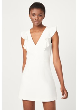 Whisper Ruffle V Neck Dress