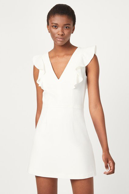 Whisper Ruffle V-Neck Dress