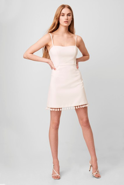 Whisper Pom Pom Strappy Dress