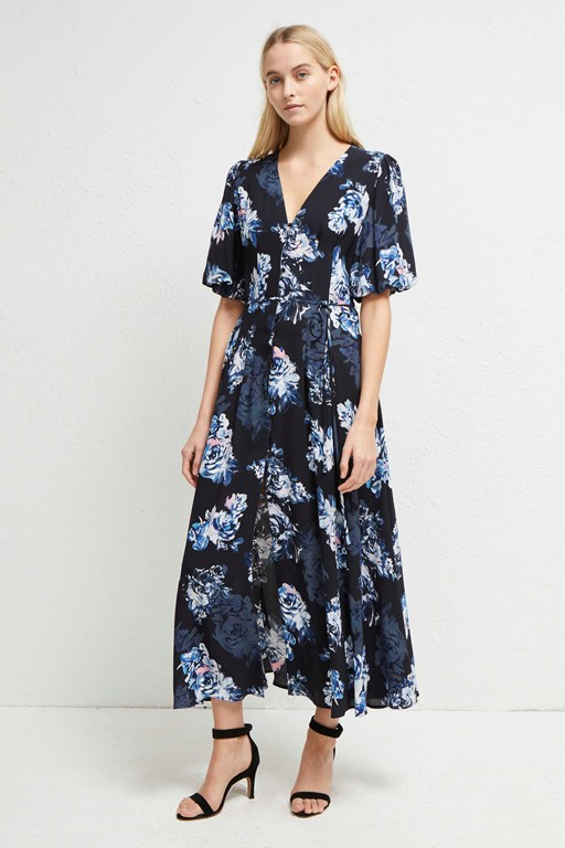 caterina crepe midi dress