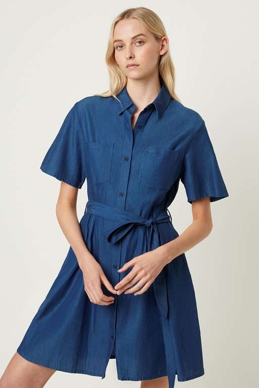 leila ixie button shirt dress