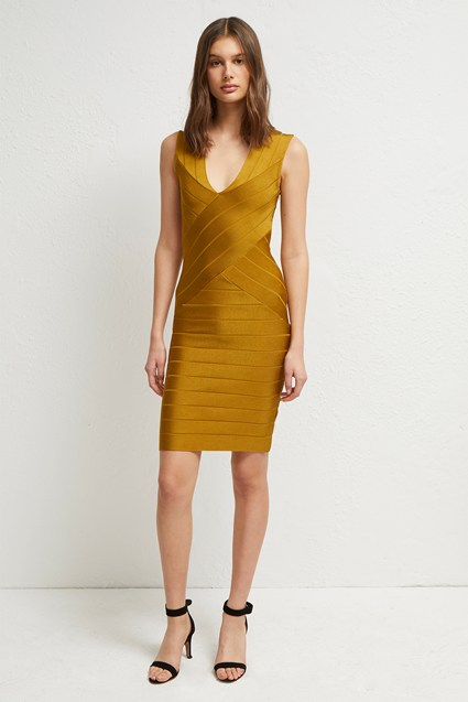 Zasha Spotlight Knit V Neck Dress