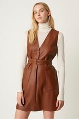 Abri Leather Dress