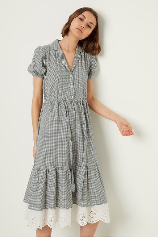 vintage jacqueline check shirt dress