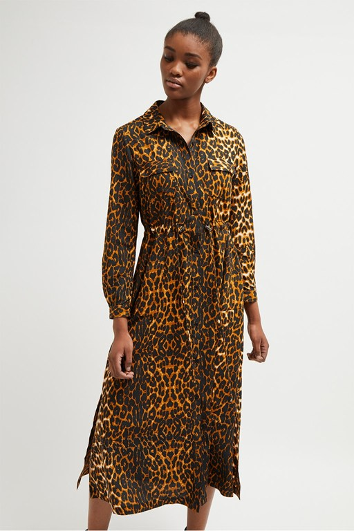 leopard graziana midi dress