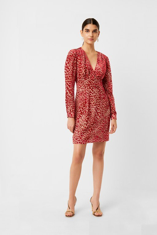 adelma devore leopard dress