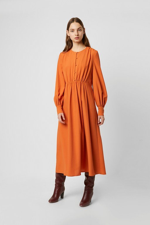 essi crepe midi dress