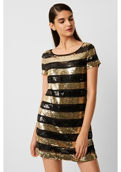 Anni Sequin Stripe T-Shirt Dress