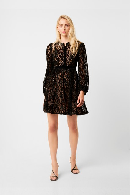 Brielle Velvet Lace Mix Dress