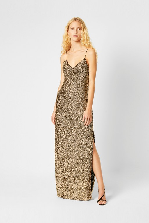 antoni sparkle sequin strappy dress