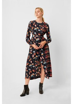 Anneli Drape Mix Print Wrap Dress