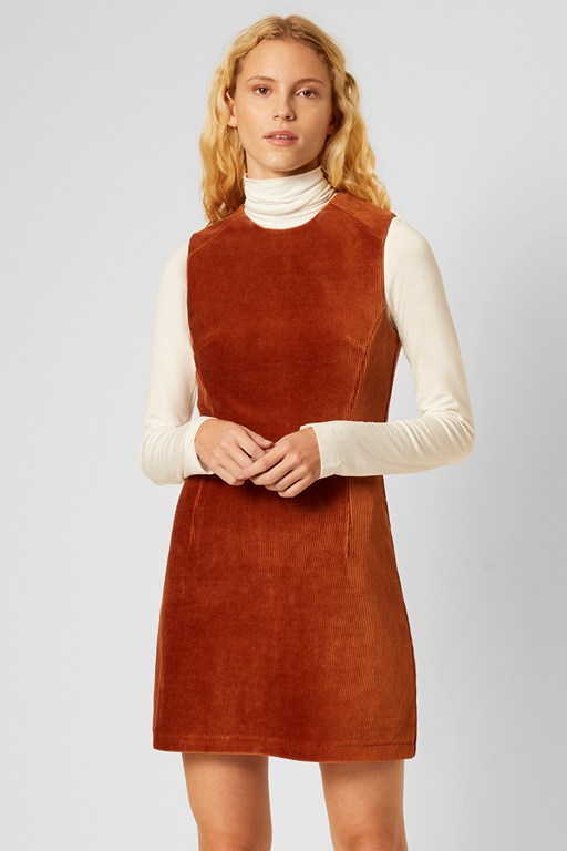 renata courduroy sleeveless dress
