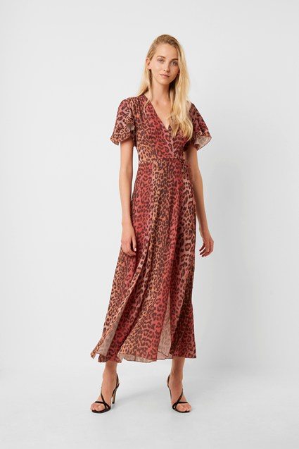 Annalia Crepe Midi Tea Dress