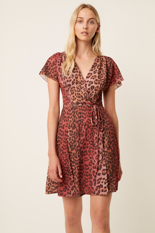 annalia crepe leopard dress