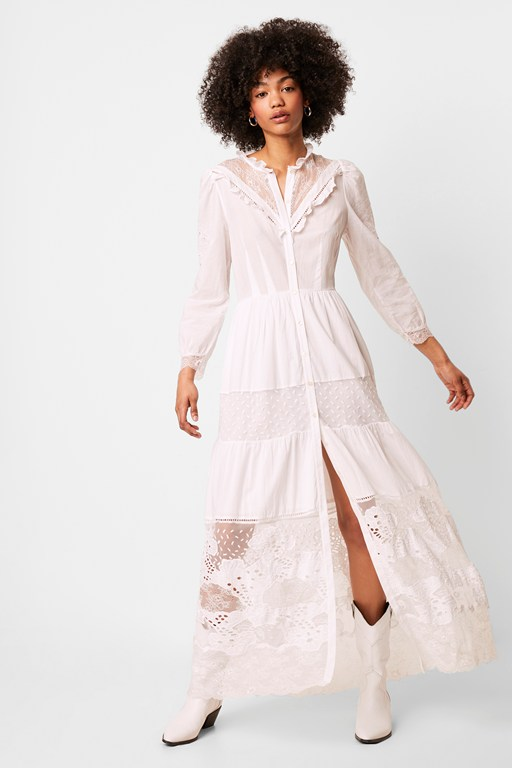 adeona lawn lace mix dress
