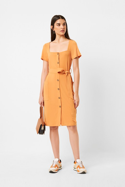 shanika slinky button dress