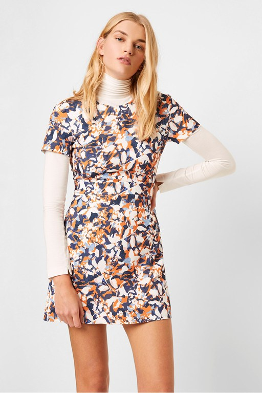 enid stretch fit and flare dress