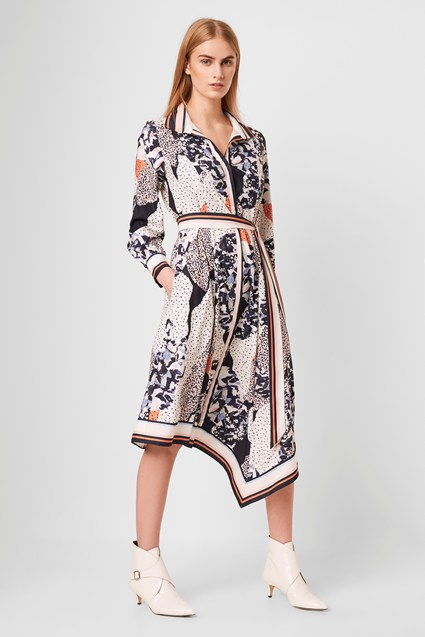 Asha Scarf Print Handkerchief Dress