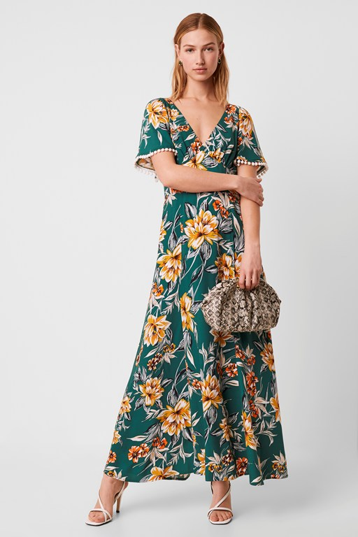 claribel floral maxi dress
