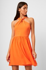 Panthea Jersey Halter Mini Dress