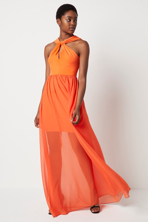 panthea jersey halter maxi dress