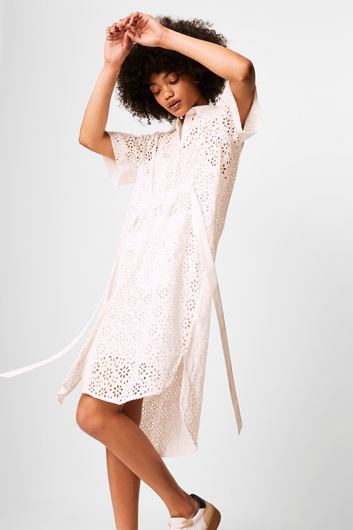 agee broderie anglaise shirt dress