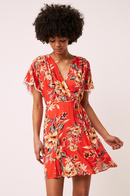 Claribel Floral Short Sleeve Dress
